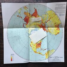 U.S. AIR FORCE Density Of Population Chart, GH - 7a, Northern Hemisphere 1947