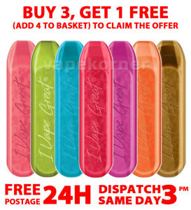 IVG Bar 600 Puff Disposable 2ml i VG Nic Salt Vape Pod Device | Buy 3 Get 1 Free