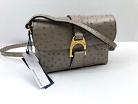 NWT Dooney & Bourke Oyster Embossed Ostrich Leather Kyra Crossbody Purse Bag