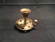 "Candle Holder – Small with Stars Design / Metal ""Brass""  with ""Vintage Look"""