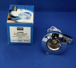 CLICK FLAMEGUARD EYEBALL LOW VOLTAGE DOWNLIGHT CHROME LV480CH