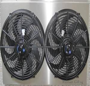 "Malibu Custom Aluminum Radiator Shroud & Dual 14"" Fans, Upgrade Cooling System"