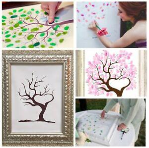 Hochzeitsbaum Weddingtree 30x40 Fingerabdruck Leinwand Hochzeit Gästebuch NEU