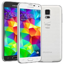 """Blanc 5.1"""" Samsung Galaxy S5 G900v 4g LTE 16gb 16mp GPS NFC Débloqué Téléphone"""
