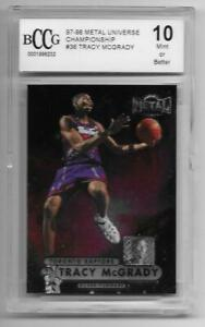 1997 98 Metal Universe TMAC rc TRACY MCGRADY rookie card Rockets bgs BCCG 10