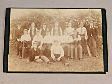 ANTIQUE 1800's  BLACK AND WHITE CRICKET TEAM CABINET PHOTO