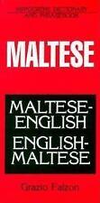 Maltese-English - English-Maltese Dictionary and Phrasebook by Grazio Falzon...
