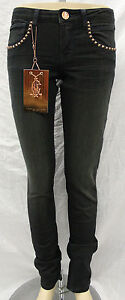 NWT WOMEN'S CHRISTIAN AUDIGIER STRAIGHT LEG STUD JEANS WARRIOR #CA105K01 SIZE:27
