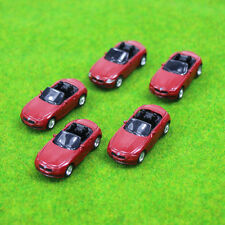 10PCS Model Cars Red BWM 1:100 TT HO Scale for Building Railway Train Scenery