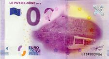 63 ORCINES Le Puy de Dôme, 2016, Billet 0 € Souvenir