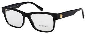Versace Eyeglasses VE 3266 GB1 55 Black Frame [55-17-145]