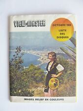VIEW MASTER VIEWMASTER REEL LIST LIST LISTE VIEW-MASTER OCTOBRE 1959