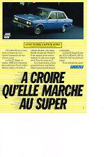 PUBLICITE  1980   FIAT 131  DIESEL