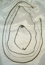 LOT of STERLING SILVER from ITALY THREE CHOKER/NECKLACES and ONE UNIQUE BRACELET