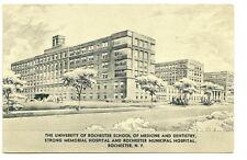 ROCHESTER NY Strong Memorial Hospital Vtg Illu Postcard