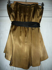 Gold Bronze Black Top M&S Gold Bronze Black Top Size 8 UK 8 Lined+Straps £35 New