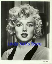 Marilyn Monroe Promotional Photograph Black & White Head Shot For Television