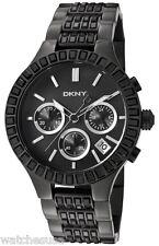 DKNY Chronograph Glitz Street Smart Black Ion-plated Ladies Watch NY8316