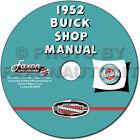 1952 Buick Repair Shop Manual CD-ROM 52 Special Super Roadmaster Repair Service
