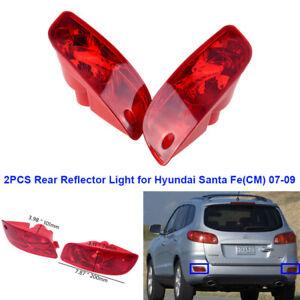 Pair Fog Light Rear Reflector Lamp Fit for Hyundai Santa Fe (CM) 2007 2008 2009