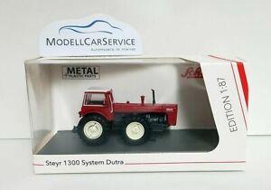 Schuco 1/87 (H0): 26414 Tracteur Steyr 1300 Système Dutra , Rouge/Blanc, Avec