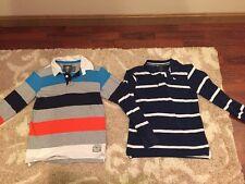 H&M H & M Boys Polo Shirts Stripe Size 8-10