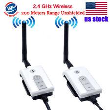 2.4Ghz Wireless AV Cable Transmitter & Receiver For Bus Car Video Monitor Truck