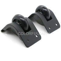 1Pair Black Color Luggage Replacement Wheels Suitcase Wheel Repair for Any Bags
