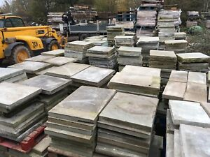 Reclaimed Sawn York Stone Paving Flagstones,  50 Sq Yards Available. London