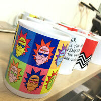 Rick and Morty Andy Warhol Inspired Mug - Rick Sanchez Pop Art homage Coffee Cup