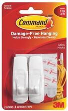 Ne 3M Command 17001 Adhesive Medium Utility Hanger Hooks Strips 6709844