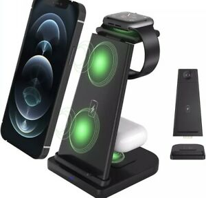 15w 3 In 1 Wireless Charger Fast Charging Dock Stand -Apple Phone, Watch