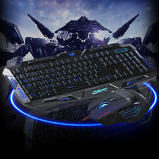 Professional Computer Wired Gaming Keyboard And Mouse Set 5500 DPI LED Mouse