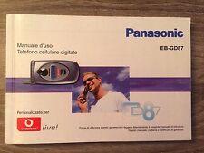 Manuale d'uso Libretto Istruzioni Cellulare Panasonic EB-GD87