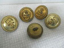 5 Vintage Gaunt Naval buttons