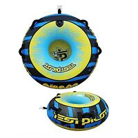 Test Pilot Airbag 1 Person Donut Towable Water Ski Tube Inflatable Biscuit Ride