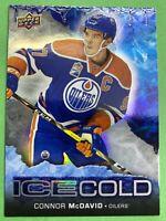 2017-18 Upper Deck Overtime Ice Cold #IC1 Connor McDavid Edmonton Oilers Insert