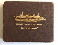 Cunard White Star Line Queen Elizabeth Leather Cigarette Case