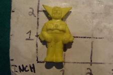 vintage ROBOT Eraser: 1980's YELLOW FIGURE