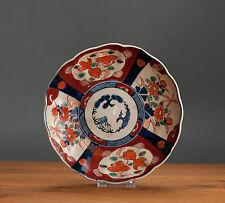 Nice! 19th Japanese Imari Meiji Bird & Flower Charger Plate Japan