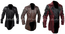 New Men's Steampunk Gothic Trench Leather Halloween Coat/Jacket