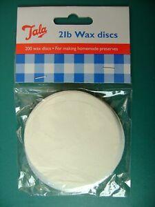400x 1lb Tala Wax Discs Covers Jam Preserves Chutney Pickle Homemade Seal New