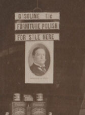 1908 William H TAFT Display In Paint Store Window PHOTO Gasoline 13 cents/Gallon