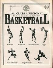 High School Basketball Program Illinois 1991 Tournament Boys AA