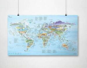 Kitesurfing Kiteboarding Kite Spots MAP by Awesome Maps - (poster, gift)