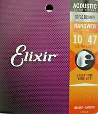 Elixir 11002 Muta per Chitarra acustica .010 Nanoweb Extra Light Acoustic Bronze
