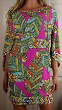 NWOT TRINA TURK Banana Leaf Print Tunic Mini Dress Size Small