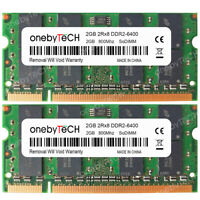 New 4GB (2x2GB) DDR2-800 PC2-6400 200 Pin SODIMM Laptop Notebook Memory Module
