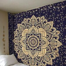 Wall Tapestry Mandala Floral Hanging Carpet Blanket Polyester Indian Bedspread