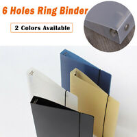 PP Cover for Notebook File Folder 6 Holes Ring Binder Spiral A5 Refillable New